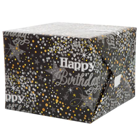 Mickey Mouse 1st Birthday Wrapping Paper (Silver Glittering Birthday Wrapping)