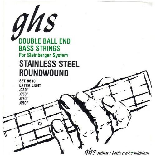 GHS 5610 Extra Light Double Ball End Electric Bass 4 String Set (30-90) by