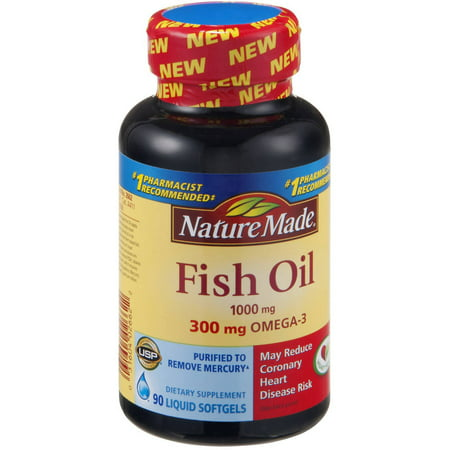 Nature made fish oil 1000 mg 300 mg omega 3 90 ct pack for Fish oil 1000 mg