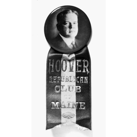 Presidential Campaign 1928 Na Presidential Campaign Button Supporting The Republican Candidate Herbert Hoover 1928 Rolled Canvas Art -  (24 x 36)