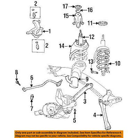 CHRYSLER OEM Rear Suspension-Upper Control Arm Mount Bolt 6502725