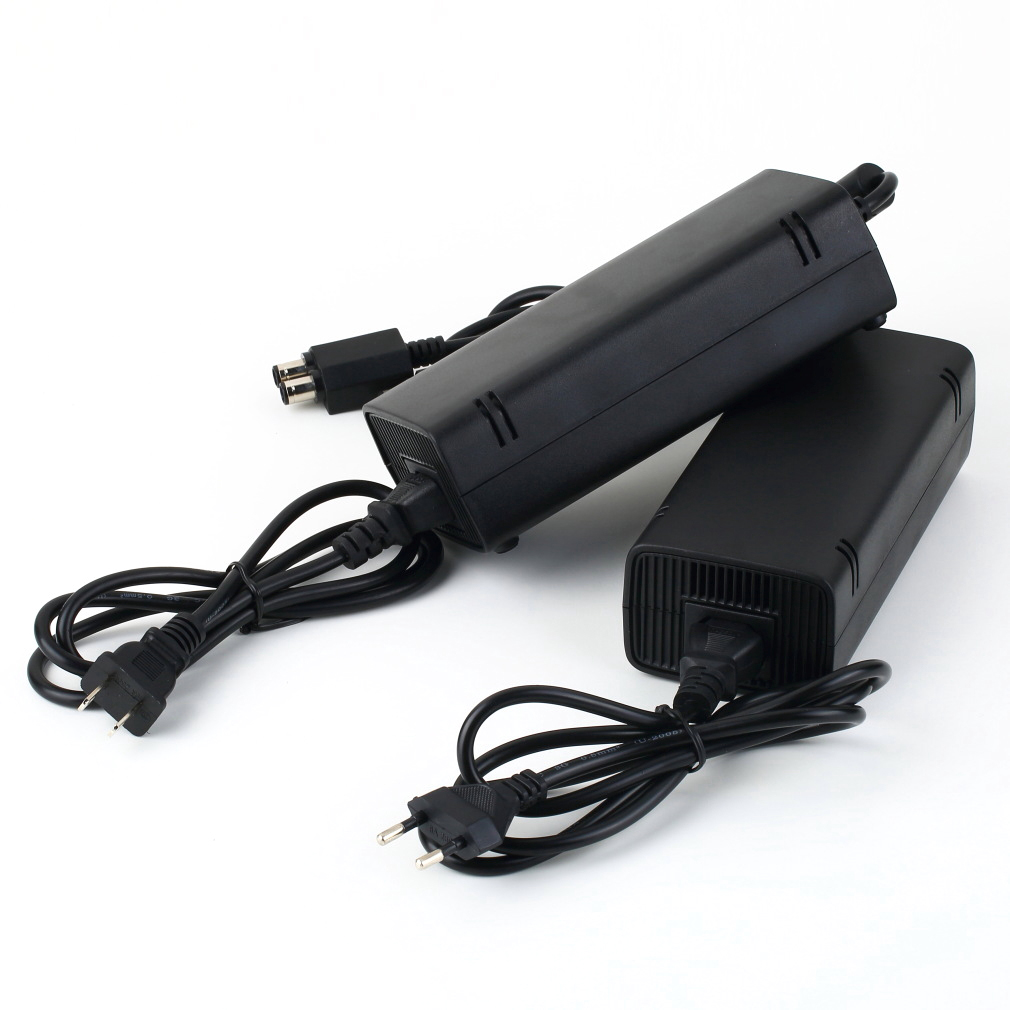 Black 135W 12V AC Adapter Power Supply Cord Charge Charging Charger Power Supply Cord Cable for Microsoft for Xbox 360 Slim