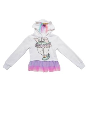 L.O.L. Surprise! Unicorn Hoodie Pullover Costume White (Little Girls,Big Girls)