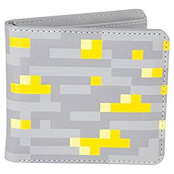 Wallet Minecraft Gold Rock Stone Bi Fold J7351 Walmart Com
