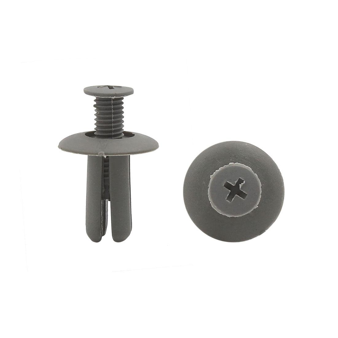 20pcs 8mm Gray Car Plastic Push Type Rivet Retainer Fastener Bumper Pin Clips - image 2 de 2