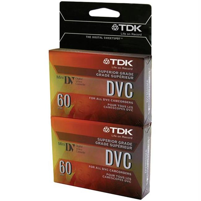Tdk 38630 60-Minute Mini Dvc Tapes - 2 Pk