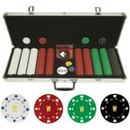 Personalized Monogrammed 500 11.5 Gram Suited Poker Chips in Aluminum Case