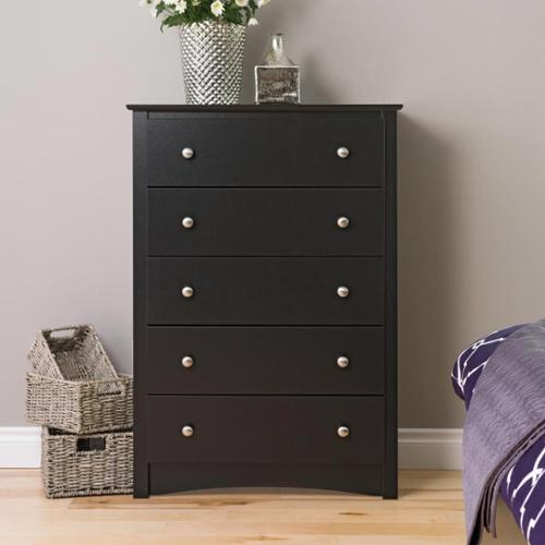 Prepac Broadway Black 5-drawer Chest by Overstock
