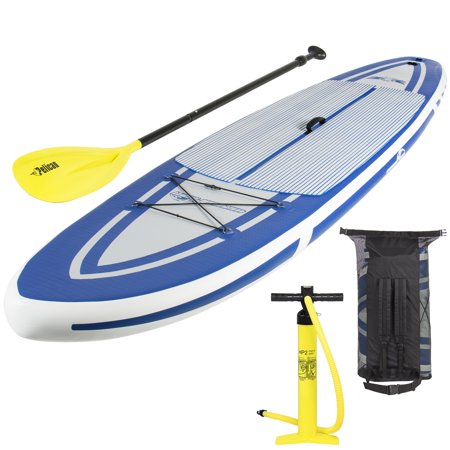 Best Choice Products 10.5ft Inflatable Stand Up Paddle Board Sport Set w/ Carrying Case, Fiberglass Paddle, and