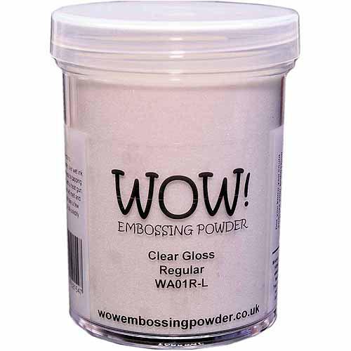 Wow! Embossing Powder Large Jar 160ml-Clear Gloss Regular