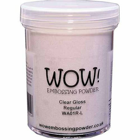 Wow! Embossing Powder Large Jar 160ml-Clear Gloss Regular Super Fine Detail Embossing Powder