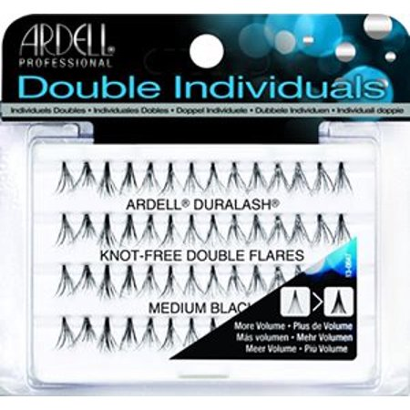 Ardell Professional Double Individuals Knot-Free Double Flares - Medium Black Ardell Individual Eyelashes Flare