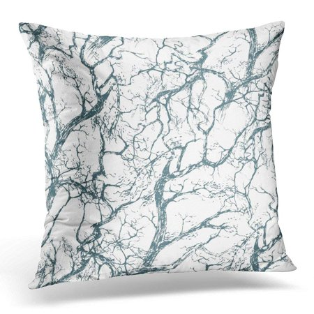 ARHOME Black Branch The Intersecting Branches of Trees Without Leaves White Halloween Pillow Case Pillow Cover 18x18 inch](Black Tree Branches Halloween)