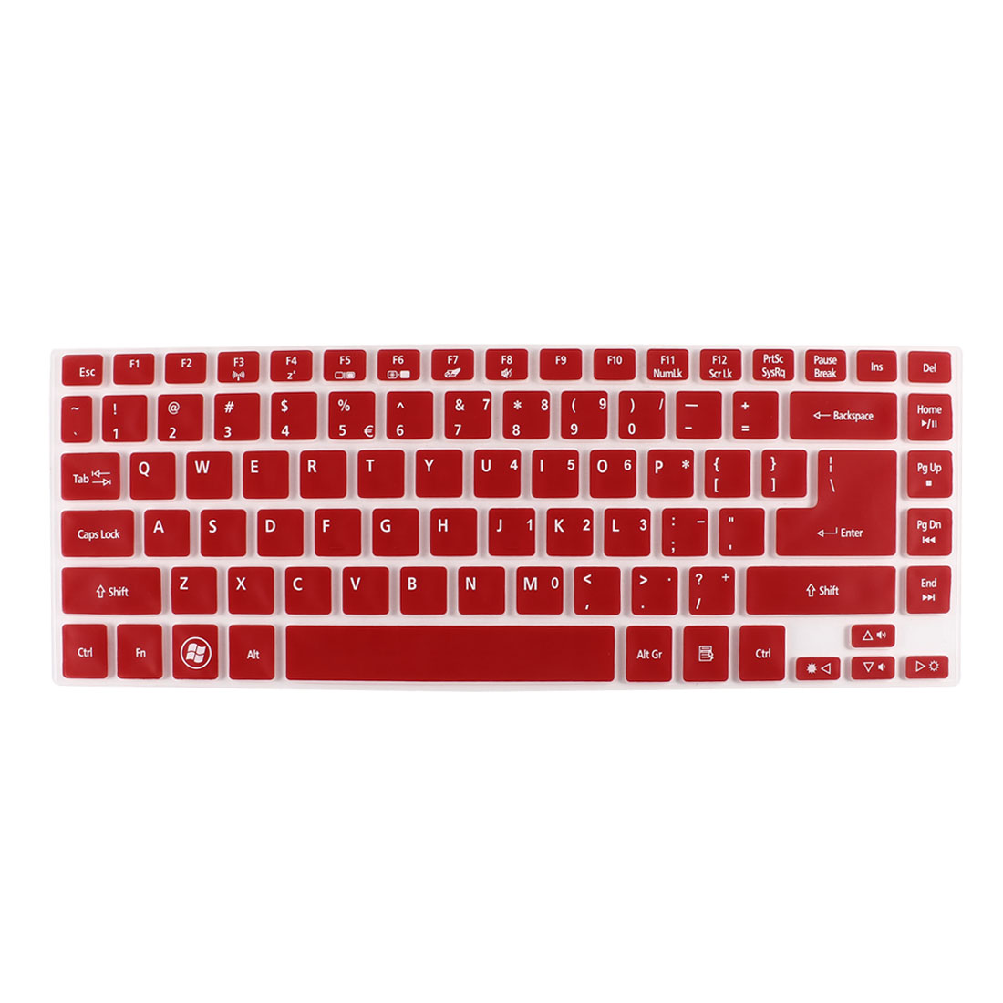 Notebook Dustproof Protector Film Keyboard Skin Cover Red Clear for Acer V3-471G