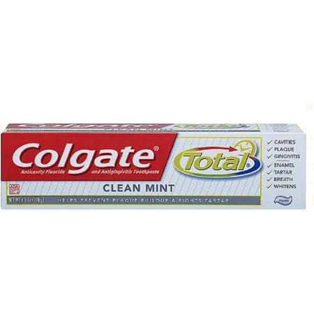 Colgate total anticavité et Fluoride Toothpaste contre la gingivite, Menthe 6 oz (Lot de 6)