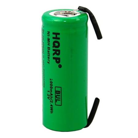 Sonicare Elite - HQRP Battery for Philips Sonicare Elite Toothbrush Repair NiMH 2000mAh 1.2V + HQRP Coaster