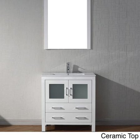 Virtu usa dior 32 inch single sink vanity set in white - Walmart bathroom vanities with sink ...