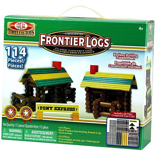 POOF-Slinky Ideal 114LBL Piece Frontier Logs Building Set, 114-piece