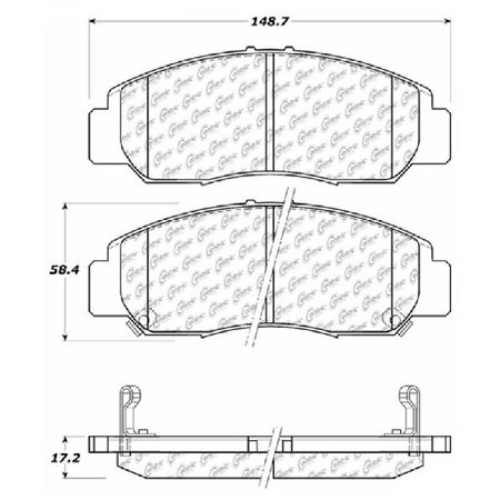 Go-Parts » 2006-2011 Acura CSX Front Disc Brake Pad Set