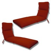 Comfort Classic Channeled Indoor/Outdoor Sunbrella Chaise Lounge Cushion - Set of 2