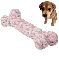 Dog Puppy Pet Cotton Braided Bone Rope Chew Knot Toy (Random Color Delivery)
