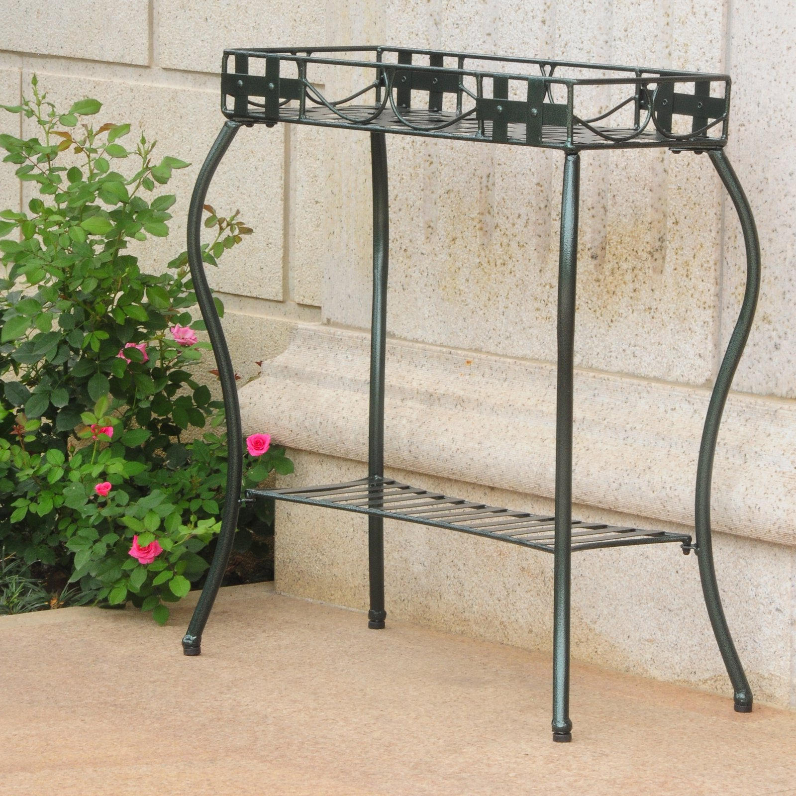 International Caravan Santa Fe Iron Metal Rectangular Plant Stand by International Caravan