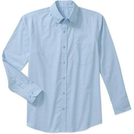 George Mens Long Sleeve Oxford Shirt, Up to 3XL