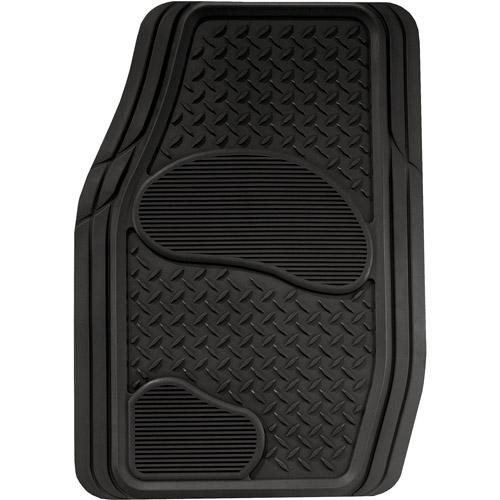Kraco 2pc Rubber Truck Floor Mats, Black