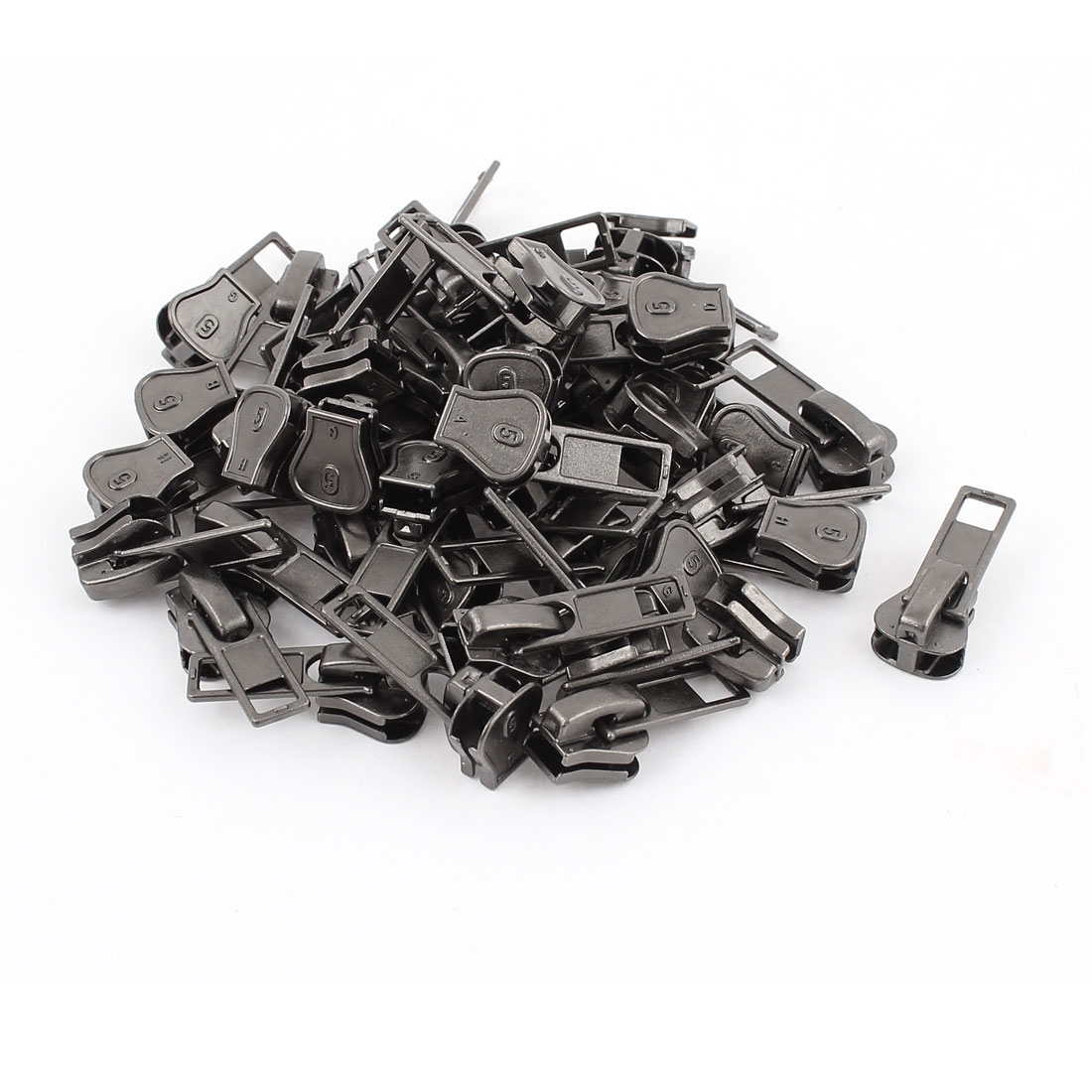 Unique Bargains Clothes Jackets Tents Purses Pull Tab Zipper Slider Repair Kit Gray 50 PCS