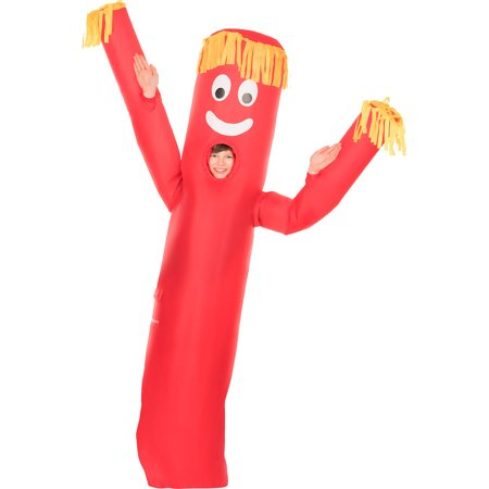 Raiders Fan Halloween Costumes (AFG Media Ltd Inflatable Red Tube Guy Costume for Children, One Size, Includes a Jumpsuit and a Battery-Operated)
