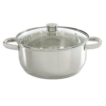 Ecolution Pure Intentions Stainless Steel 5 Qt. Dutch Oven with Glass Lid - Polished ()