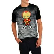 Iron Man Kawaii Big Men's Graphic Poly Tee