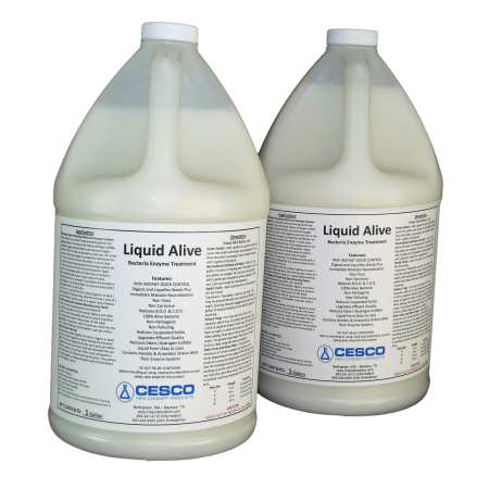 Liquid Alive Bacteria Enzyme Treatment - for Septic RV Boat - Odor Digester - 2 Gallons Septic Tank Bacteria