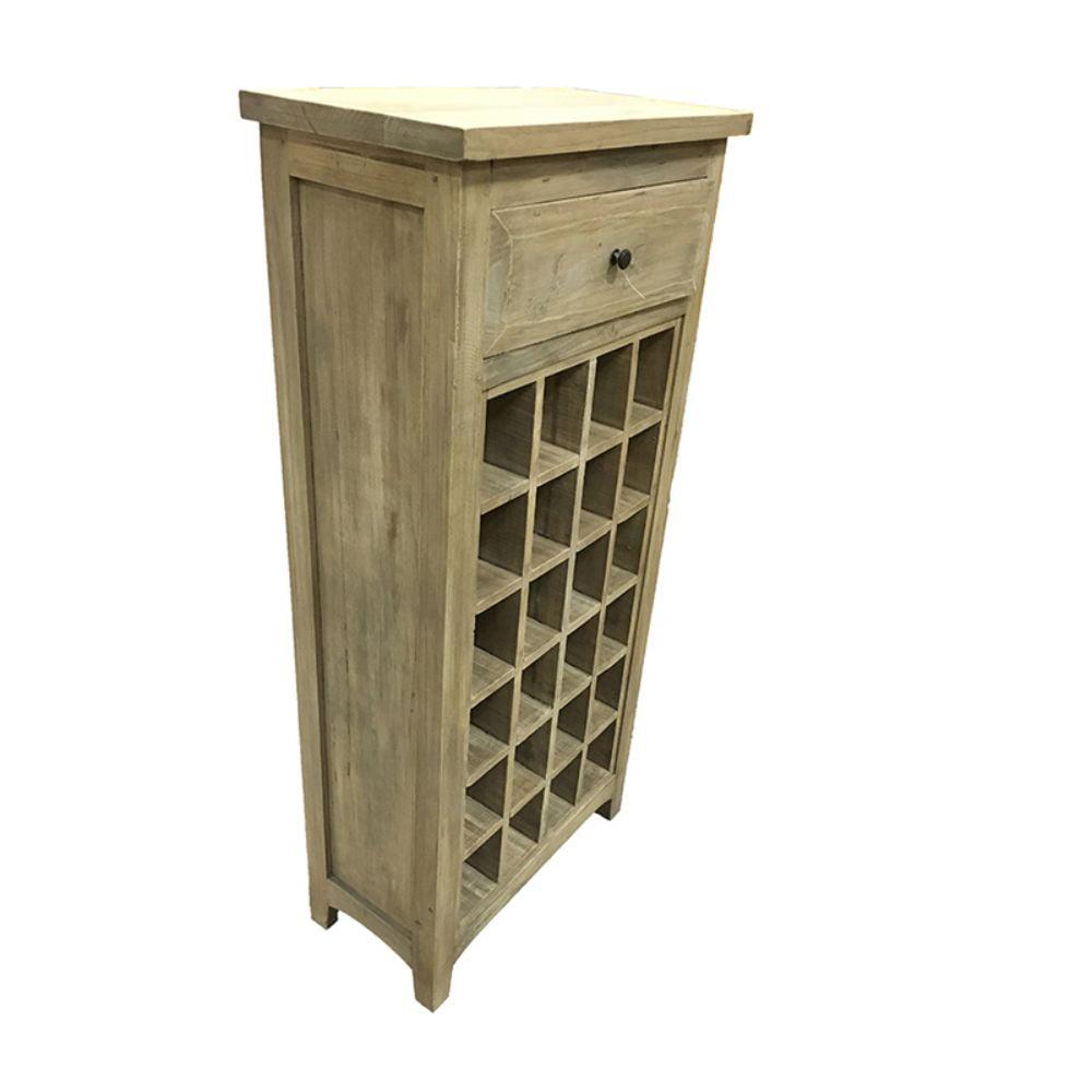 Classy Wine Cabinet 1 Drawer Benzara by Entrada
