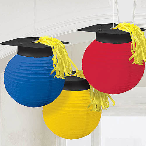 Lanterns with Grad Caps, Set of 3