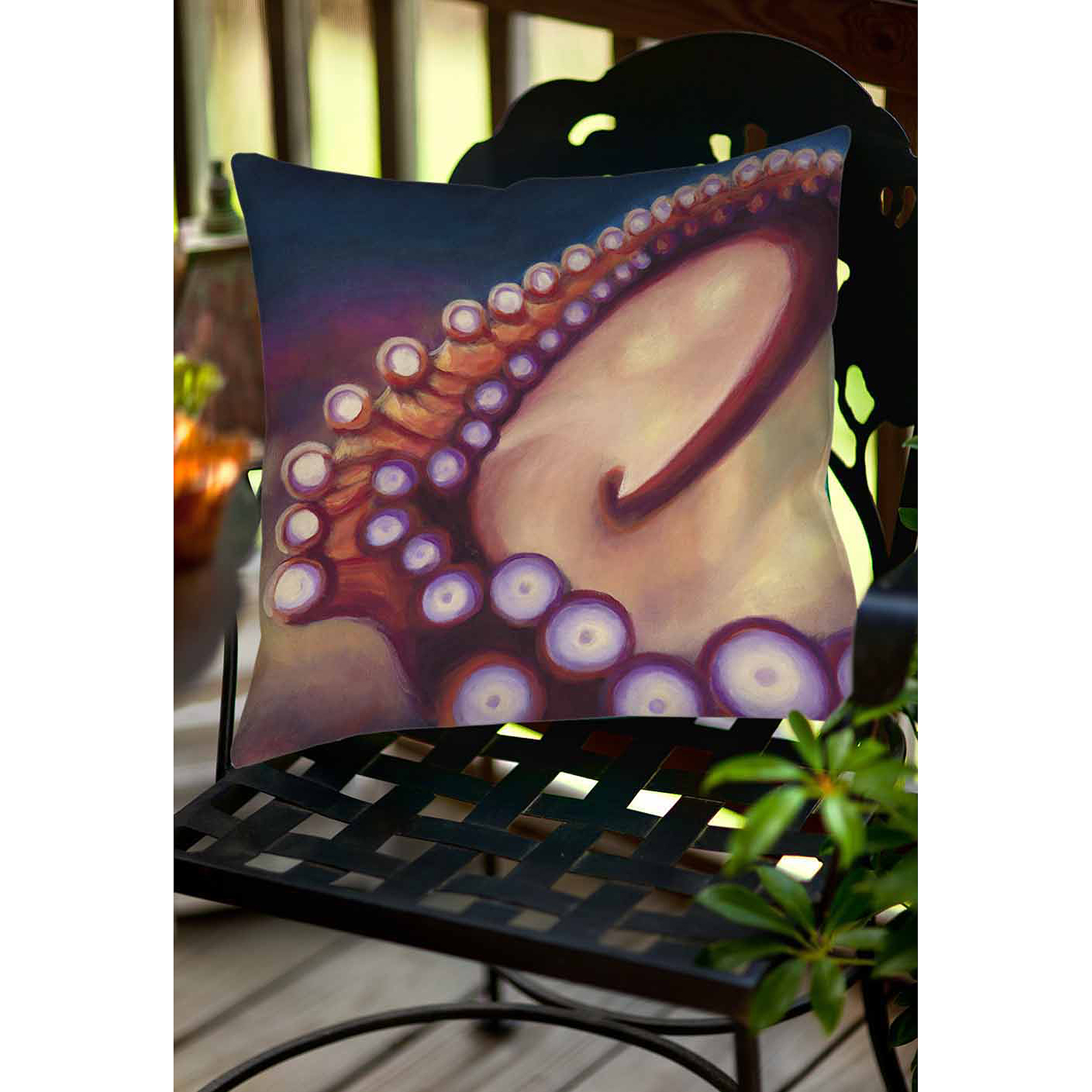 Thumbprintz Octopus Indoor/Outdoor Pillow