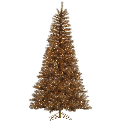 The Holiday Aisle 7.5' Metal Mix Tinsel Artificial Christmas Tree with 700 LED Clear Dura-Lit Lights