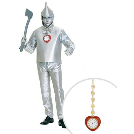 Wizard Of Oz Tin Man Adult Plus Size With Clock](Clock Costume)
