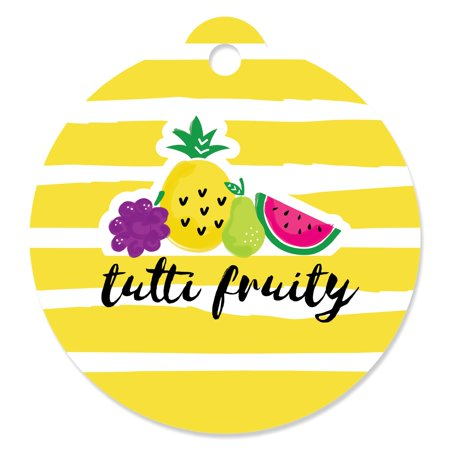 - Tutti Fruity - Frutti Summer Baby Shower or Birthday Party Favor Gift Tags (Set of 20)