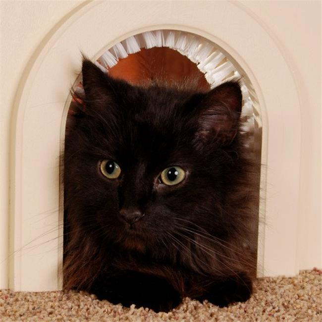 Pet Door for Cats with Removeable Brush -