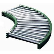ASHLAND CONVEYOR 10F90KG03B16 Roller Conveyor,90 Curve, 16BF