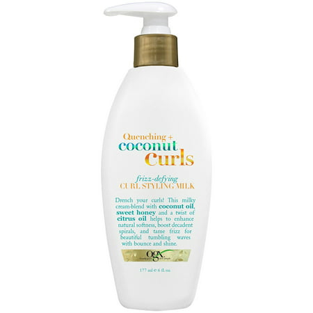 OGX Quenching Coconut Curls Frizz-Defying Curl Styling Milk, 6.0 FL