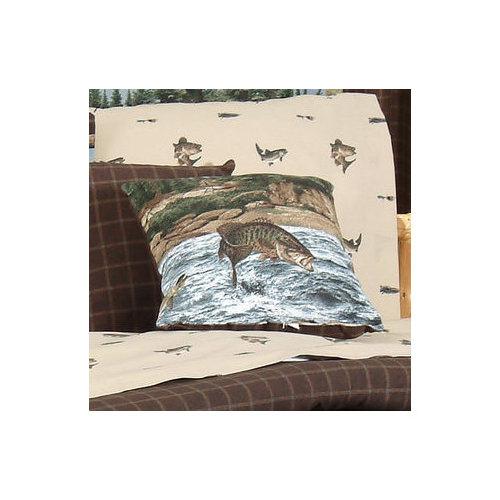 River Fishing Square Pillow