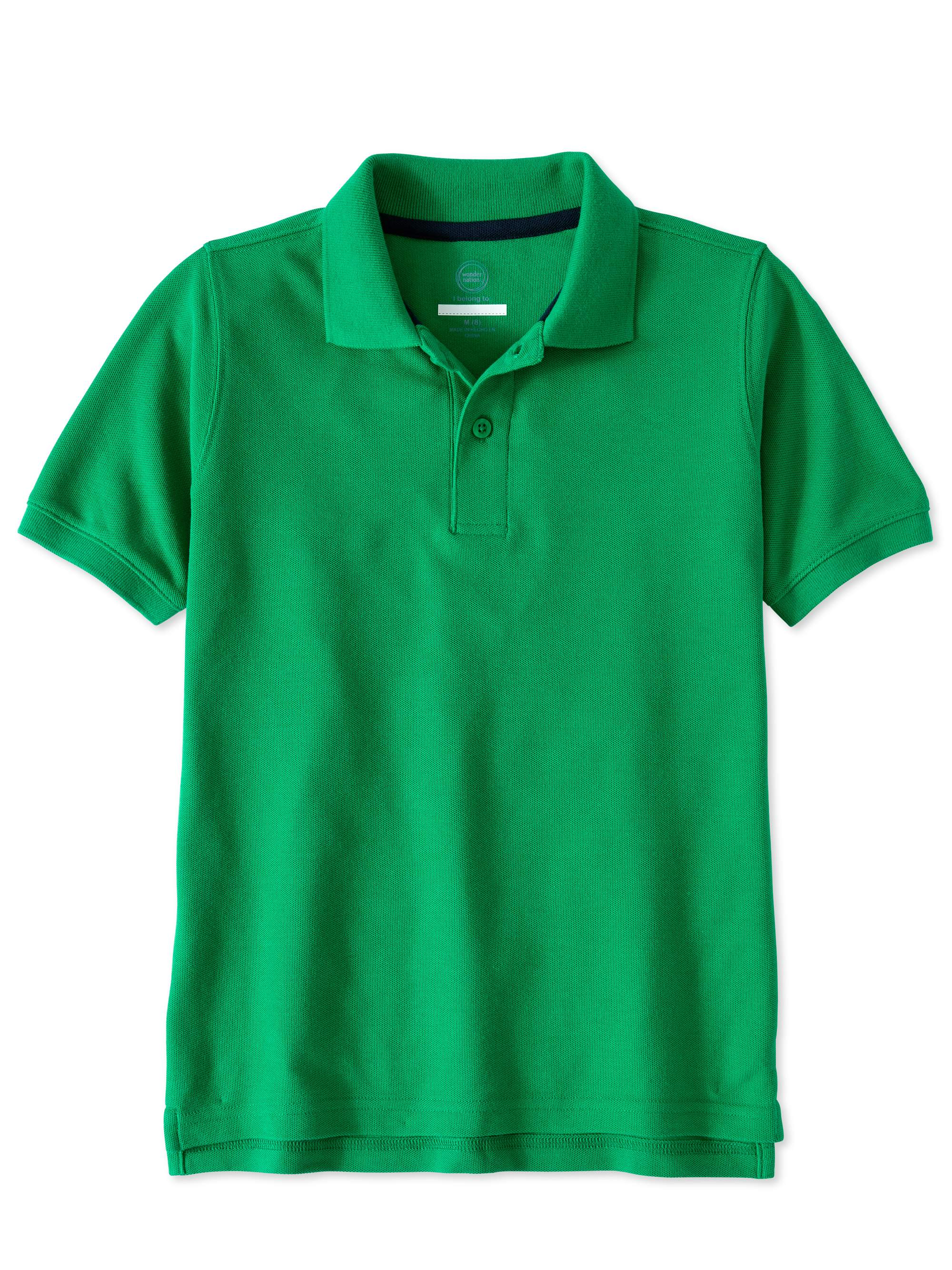 Boys Husky School Uniform Short Sleeve Double Pique Polo