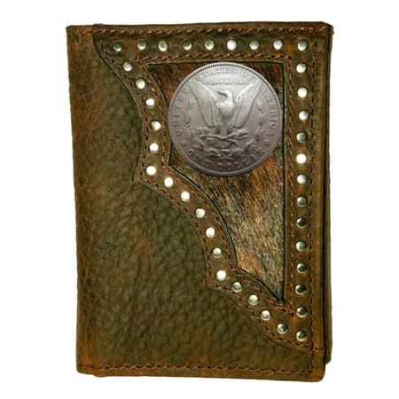 Custom Morgan Dollar Tails Realtree Ap Trifold Wallet