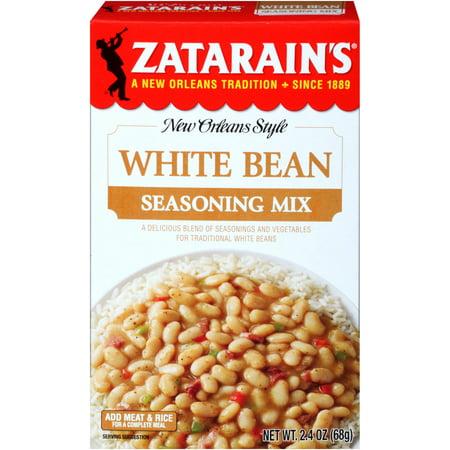(3 Pack) Zatarains White Bean Seasoning Mix, 2.4 oz