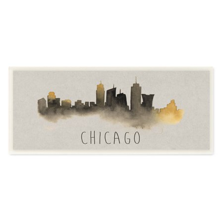 Chicago Outdoor Wall - The Stupell Home Decor Collection Chicago Skyline Silhouette Wall Plaque Art