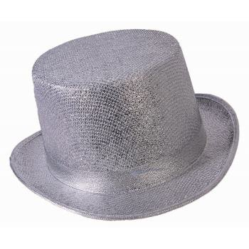 Silver Top Hat Halloween Costume Accessory](Silver Top Hats)