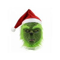 Topumt The Grinch Cosplay Mask Costume Helmet How the Grinch Stole Christmas Hat