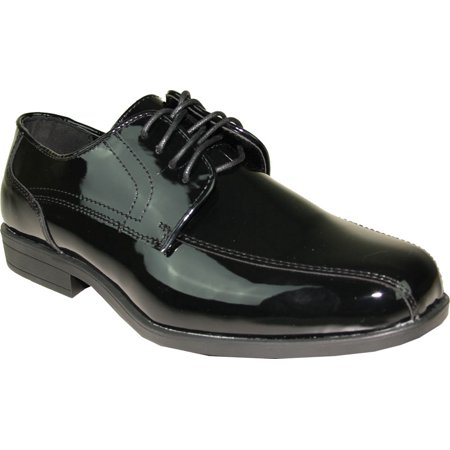 Jean Yves JY02 Tuxedo Dress Shoe Double Runner for Wedding, Prom and Formal Event (6.5 D(M) US, Black Patent) - Jean Yves Tuxedos